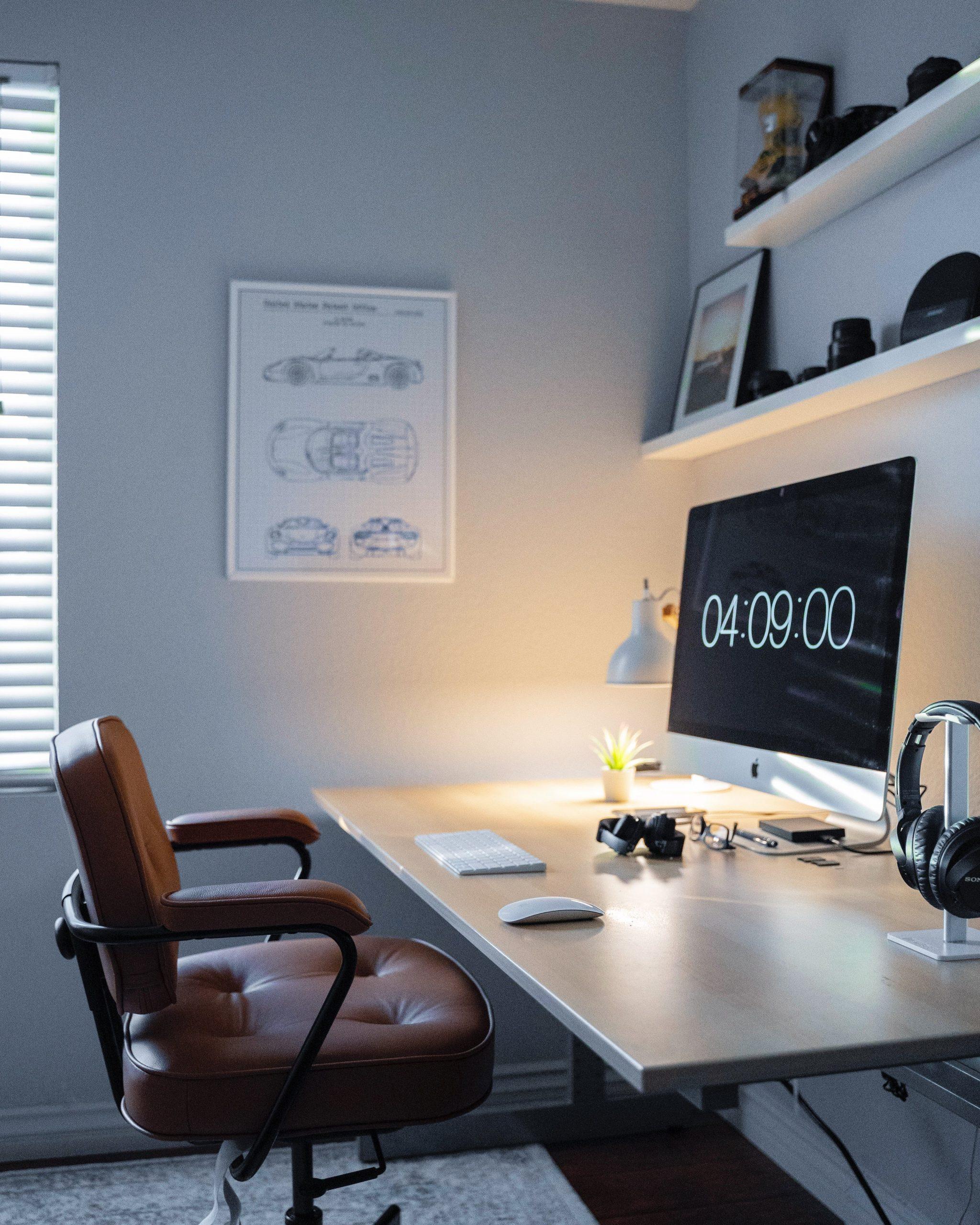 lamp on the desk